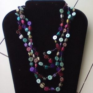"""Vtg 20""""  Multi Layered Pearl Necklace. Beautiful"""